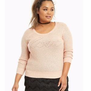 Torrid Peach Long Sleeve Love Sweater Size 2X